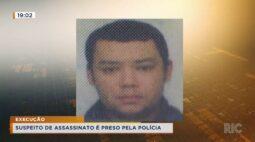 Suspeito de assassinato é preso pela polícia