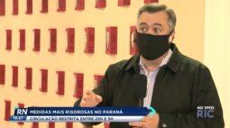 Medidas mais rigorosas no Paraná circulação está restrita entre 23h e 5h