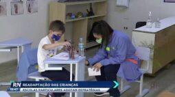 Readaptação das crianças escolas particulares adotam estratégias