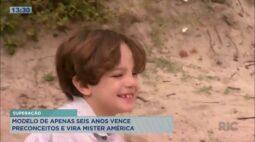 Modelo de apenas 6 anos vence preconceitos e vira Mister América