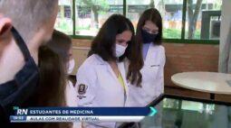 Estudantes de medicina tem aulas com realidade virtual