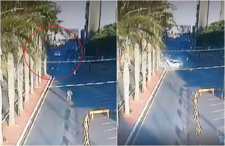 Vídeo mostra momento que adolescente de 16 anos derruba duas árvores com carro no Paraná