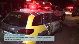 Jovem fica gravemente ferido após levar 12 facadas em Mandaguaçu