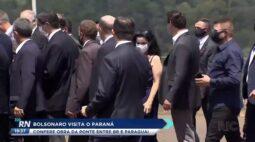 Bolsonaro visita o Paraná confere obra da ponte entre Brasil e Paraguai
