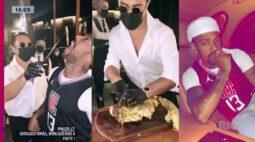 Nego do Borel come bife de ouro de cinco mil reais em Dubai