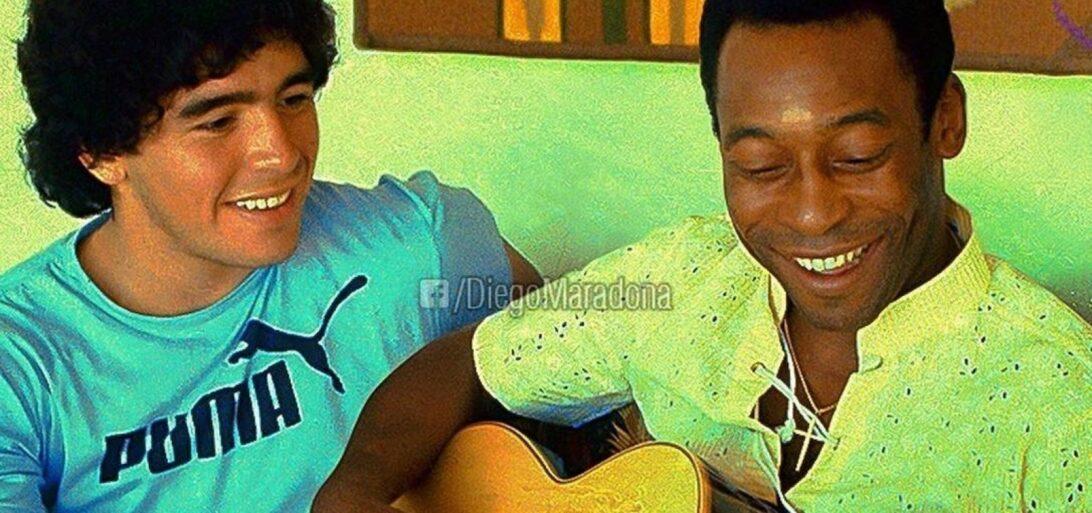 """Pelé presta homenagem a Maradona: """"Eu te amo, Diego"""""""