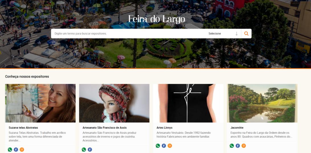 Site da Feira do Largo da Ordem permite compra online de artesanatos