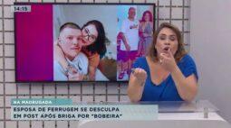 """Esposa de Ferrugem se desculpa com cantor em post após briga por """"bobeira"""""""