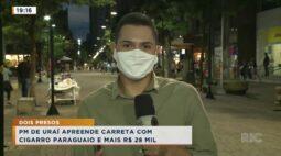 PM de Uraí apreende carreta com cigarro paraguaio e mais R$ 28 mil