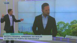 Receita Federal apreende 322 quilos de cocaína no porto de Paranaguá