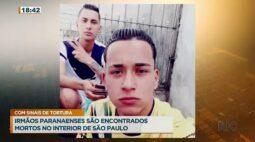 Irmãos paranaenses são encontrados mortos no interior de São Paulo