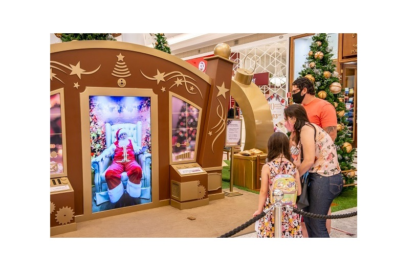 Últimos dias do Papai Noel virtual no Catuaí Shopping em Londrina