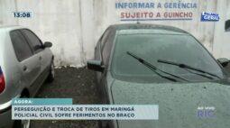 Perseguição e troca de tiros em Maringá, policial civil sofre ferimentos no braço