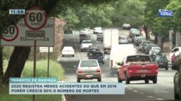 2020 registra menos acidentes que 2019; porém cresce 80% o número de mortes