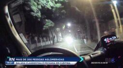 Balada clandestina com mais de 200 pessoas é fechada em Curitiba