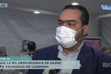 Covid-19: mais mil profissionais de saúde são vacinados em Londrina