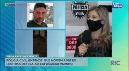 Polícia entende que homem agiu em legítima defesa ao esfaquear o vizinho, no bairro Santa Cândida