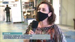Covid-19: vacinas chegam ao Paraná e a distribuição já começou