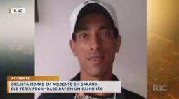 """Ciclista morre em acidente em Sarandi, ele teria pego """"rabeira"""" em um caminhão"""