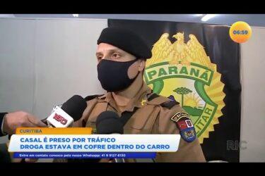 Casal é preso por tráfico a droga estava em cofre dentro do carro