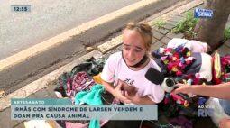 Irmãs com Síndrome de Larsen vendem e doam para causa animal