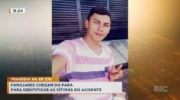 Familiares chegam do Pará para identificar as vítimas do acidente