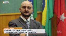 Roberto Fú toma posse como vereador na câmara de Londrina