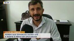 Homem que espancou outro até a morte é preso em Apucarana