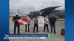 Cidade do Pará recebe oxigênio do Paraná, avião da força aérea fez o transporte