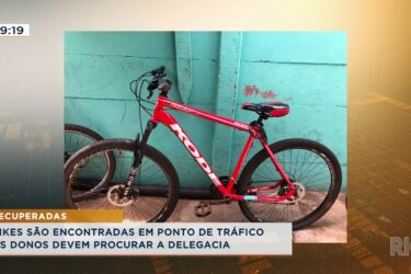 Bikes são encontrada em ponto de tráfico, os donos devem procurar a delegacia