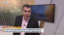 Avião com vacinas para Londrina quase bate em boing ao decolar de aeroporto