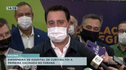 Enfermeira de hospital de Curitiba foi a primeira vacinada no Paraná