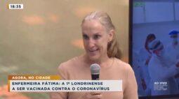 Enfermeira Fátima é a 1ª londrinense a ser vacinada contra o coronavírus