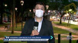 Curitiba adota esquema de escolta e vigilância para evitar falsificações e desvios de doses