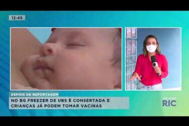 Risco à saúde: mães não conseguem vacinar seus filhos em UBS por causa de freezer quebrado