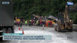 Tragédia na BR-376: polícia investiga causas do acidente mas dono da empresa nega falha mecânica