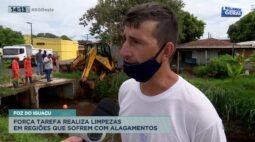 Foz do Iguaçu: força tarefa realiza limpezas em regiões que sofrem com alagamentos