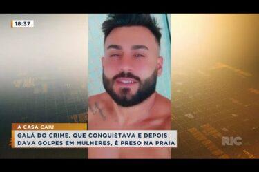 Galã do crime, que conquistava e depois dava golpes em mulheres, é preso na praia