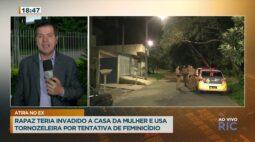 Rapaz invadiu casa da mulher e usa tornozeleira por tentativa de feminicídio