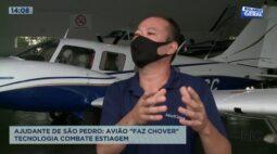 """Ajudante de São Pedro: tecnologia de avião que """"faz chover"""" combate estiagem"""