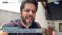 Conheça Lindaura, a mulher que caiu num freezer e ganhou as redes sociais