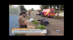 Polícia espera receber denúncias para prender matadores de motociclista