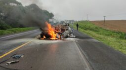 Acidente na Rodovia do Xisto termina com morte na manhã desta sexta-feira (15)