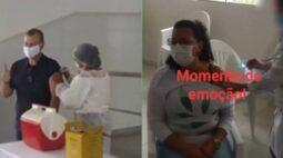 Autoridades furam fila da vacina contra coronavírus e populares se revoltam