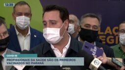 Covid-19: profissionais da saúde são os primeiros vacinados no Paraná