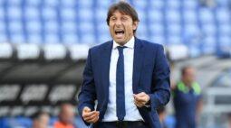 Conte é suspenso e multado após ofensas ao árbitro em jogo da Internazionale