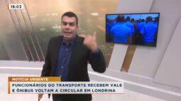 Funcionários do transporte recebem vale e ônibus voltam a circular em Londrina