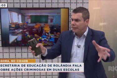 Criminosos invadem escolas municipais de Rolândia e deixam rastro de destruição