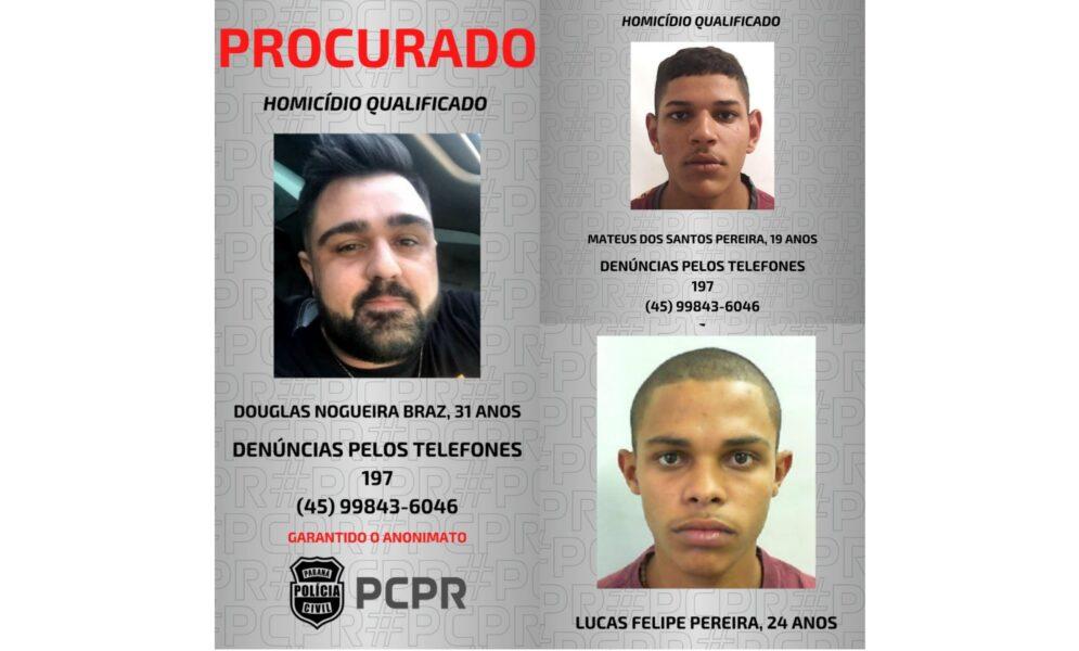 Polícia divulga imagens de foragidos por assassinato de empresário em Foz do Iguaçu