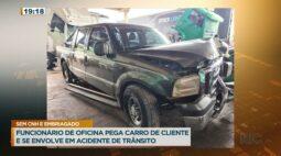 Funcionário de oficina pega carro de cliente e se envolve em acidente de trânsito